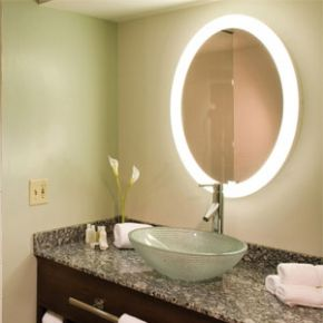 Electric Mirror 30 Dia Lighted